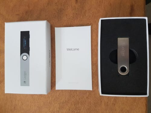 Unboxed Ledger Nano S