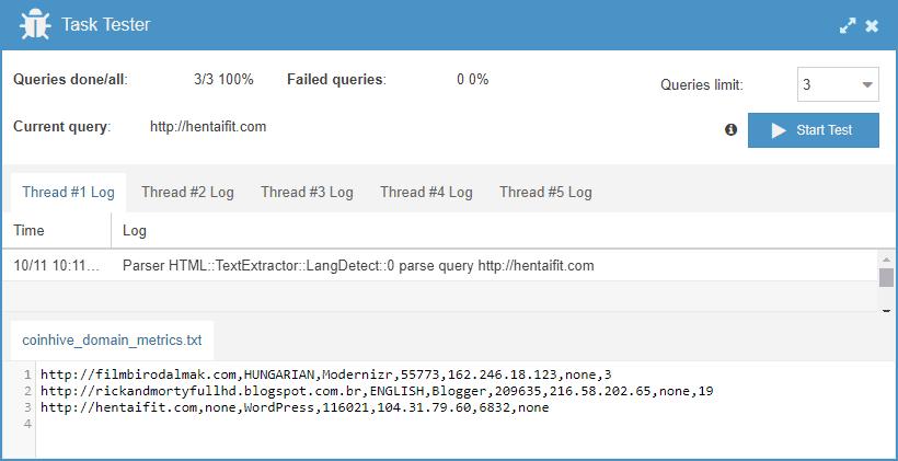 a-parser testing result