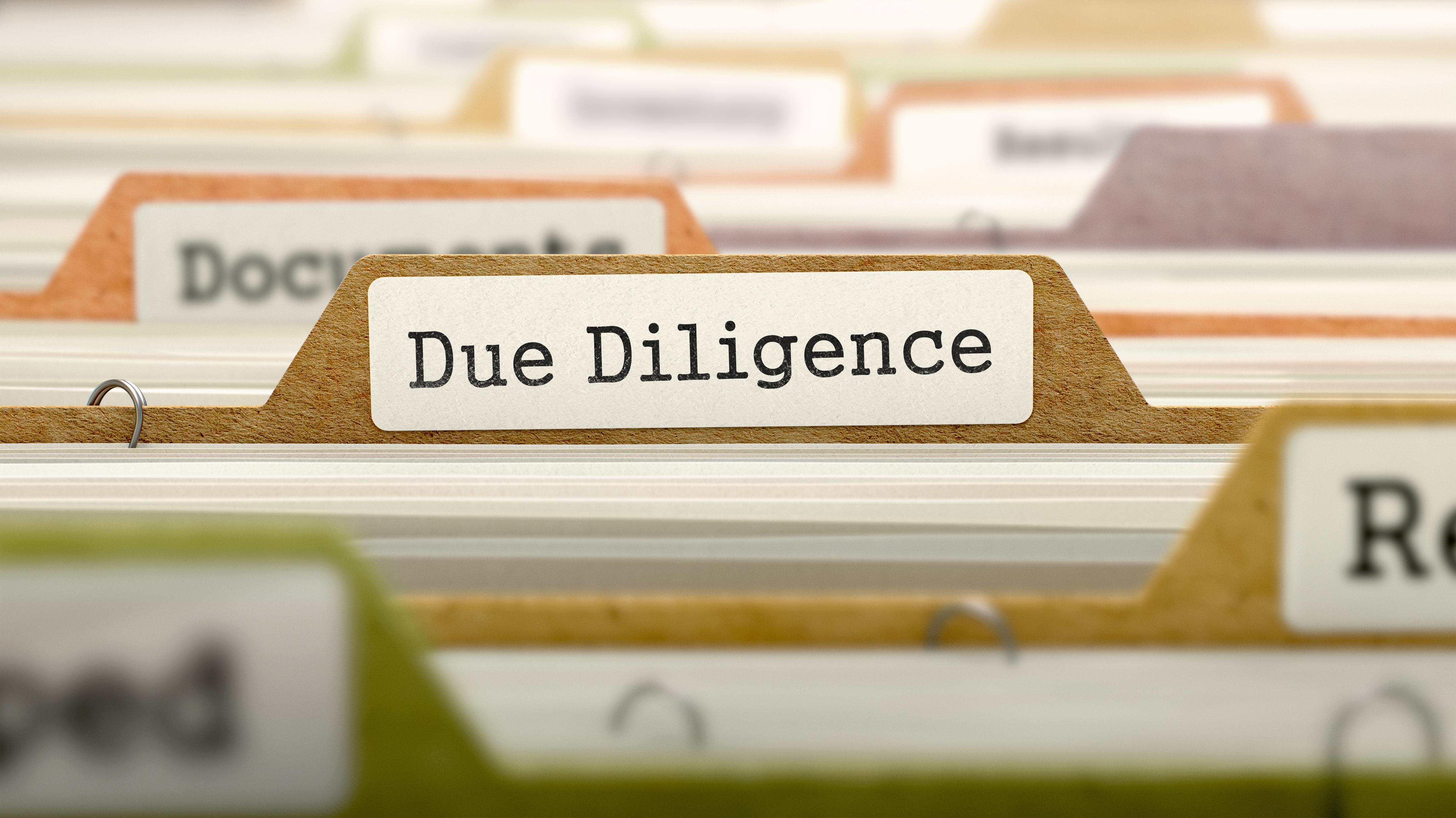 Partes do processo de due diligence
