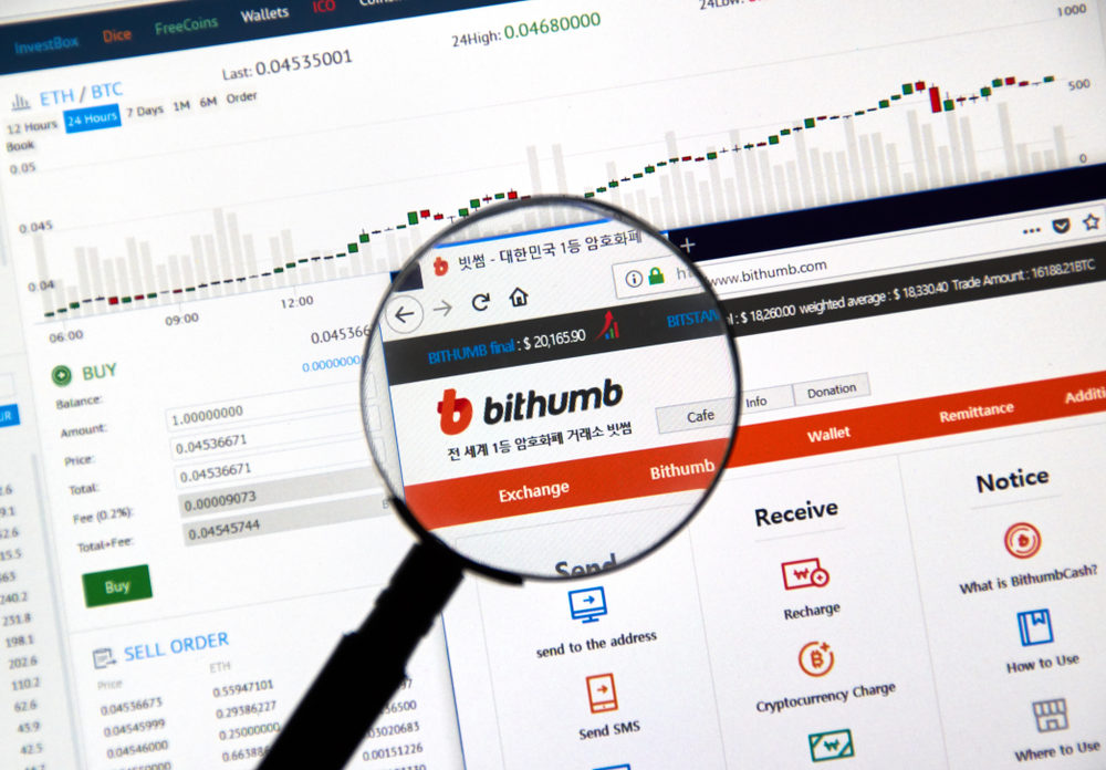Bithumb sign. Source: shutterstock.com