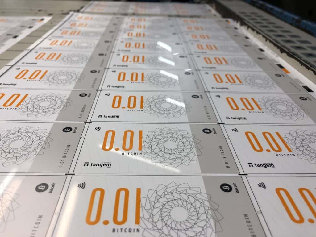 tangem bitcoin note manufacturing