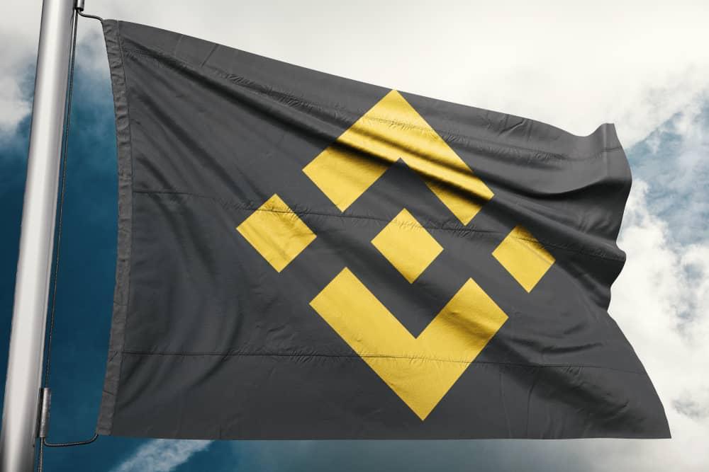 Binance flag waving. Source: Shutterstock.com
