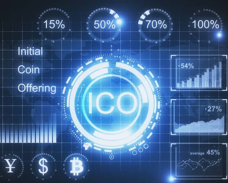 Creative glowing ICO background. Cryptocurrency concept. Source: shutterstock.com