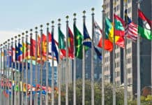 Flags of all nations outside the UN in New York City. Source: Shutterstock.com