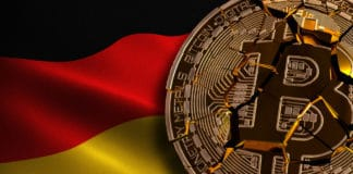 Germany Bitcoin BANNED, Not Illegal, Ban BTC, block chain technology for crypto currency, 3D Rendering. Source: shutterstock.com