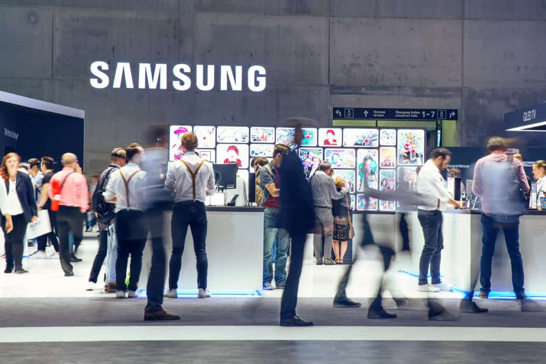 Samsung exhibition pavilion. Source: Shutterstock.com