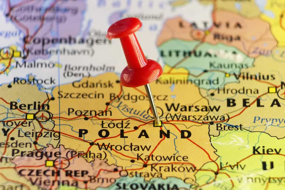A map of Poland. Source: Shutterstock.com