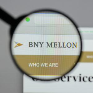 Bank of New York Mellon logo on website. Source: shutterstock.com