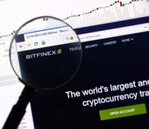 Bitfinex logo on website. Source: shutterstock.com