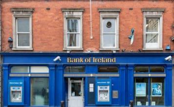 Branch of Bank of Ireland. Source: shutterstock.com