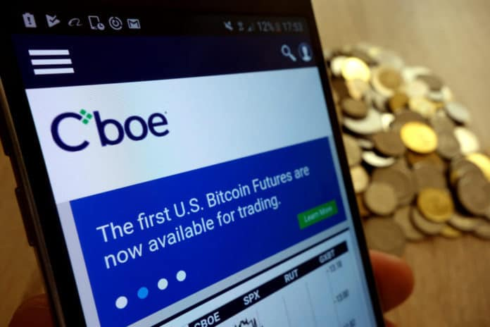Cboe Website on Mobile Phone. Source: Shutterstock.com