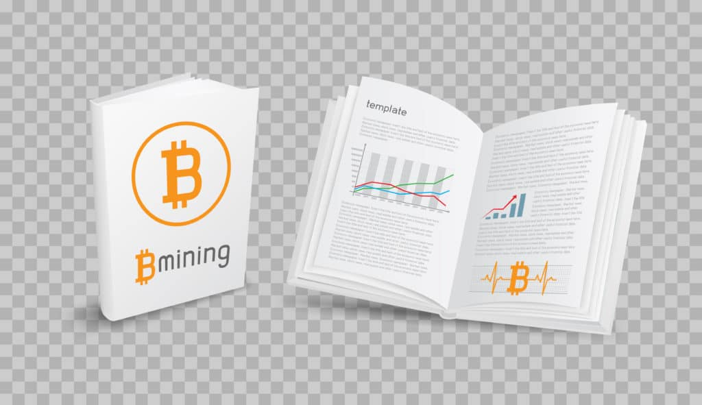 Cryptocurrency books. Source: shutterstock.com