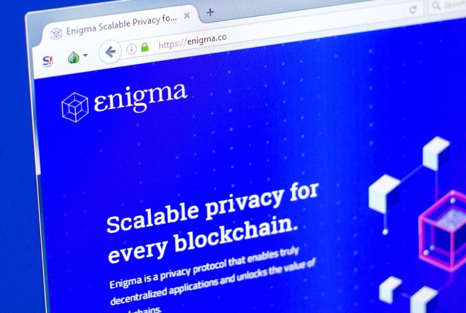 Enigma logo on webpage. Source: shutterstock.com