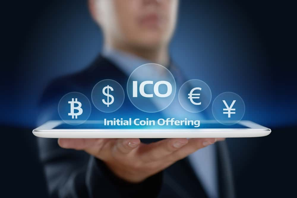 ICO Business Internet Technology Concept. Source: Shutterstock.com