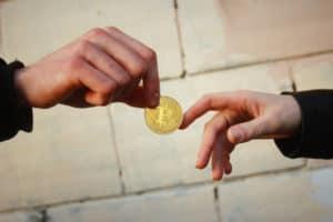 Concept of bitcoin transactions - Source: ShutterStock.com