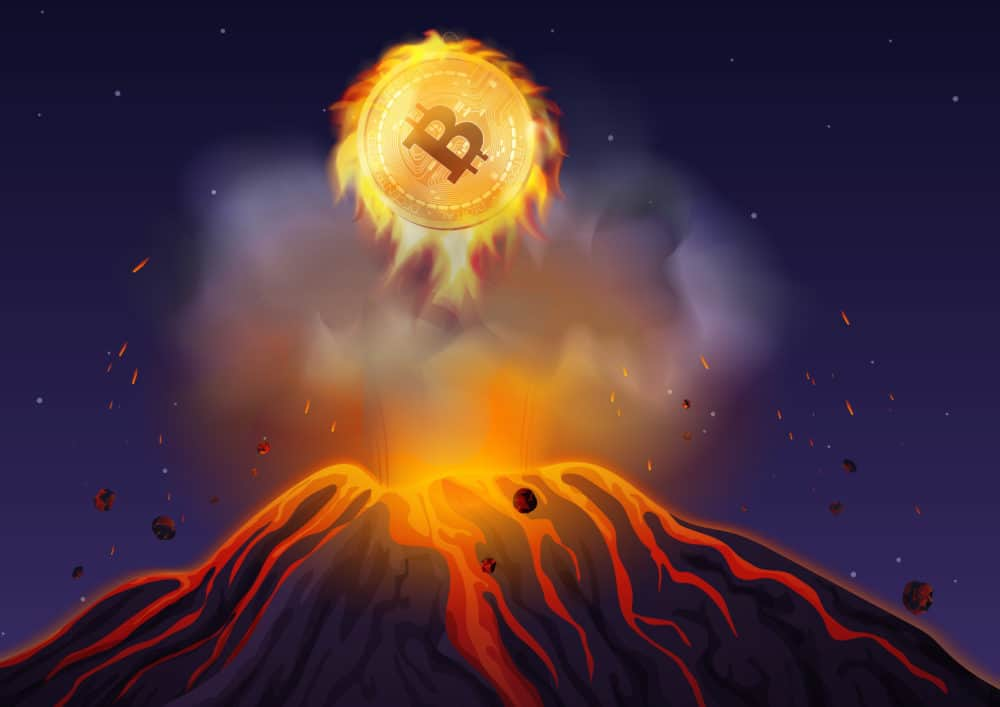 Bitcoin volcano explosion. Source: shutterstock.com