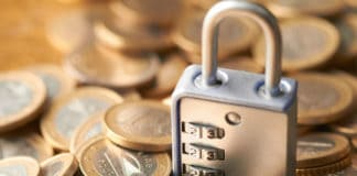 Coins with lock. Source: shutterstock.com