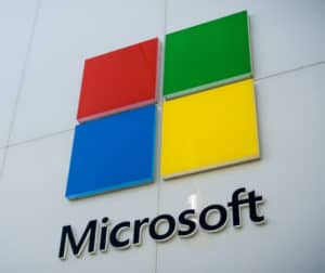 Microsoft logo. Source: shutterstock.com