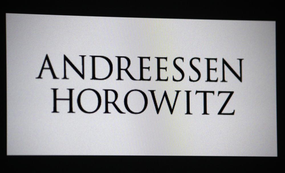 The logo of the brand Andreessen Horowitz. Source: Shutterstock.com