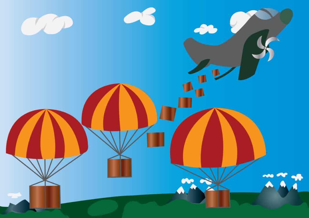 Token airdrop concept. Source: shutterstock.com