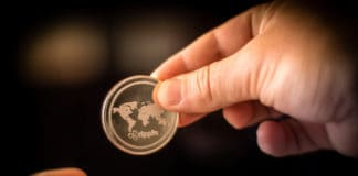 Ripple XRP Coin Money Transfer Crypto Currency. Source: shutterstock.com