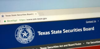 Website of The Texas State Securities Board, a Texas state agency with a mission to protect Texas investors. Source: shutterstock.com