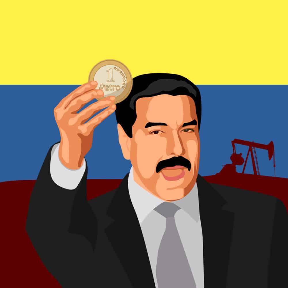 President of Venezuela Nicholas Maduro holding a petro. Source: shutterstock.com
