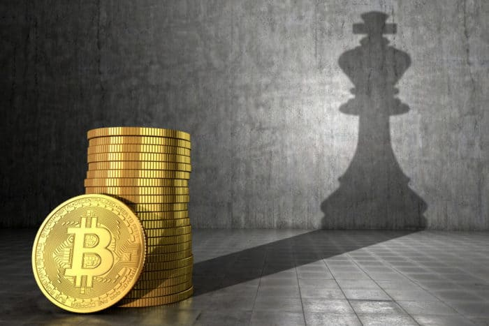 Bitcoin as the leading token. Source: shutterstock.com