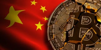 China's Bitcoin BANNED, Not Illegal, Ban BTC, block chain technology for crypto currency, 3D Rendering Source: shutterstock.com