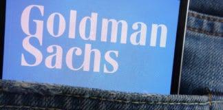 KONSKIE, POLAND - JUNE 01, 2018: Goldman Sachs logo displayed on smartphone hidden in jeans pocket. Source: shutterstock.com