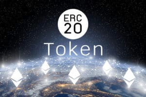 Concept of Ethereum ERC20 Token technology, Cryptocurrency blockchain platform , Digital money. Source: shutterstock.com