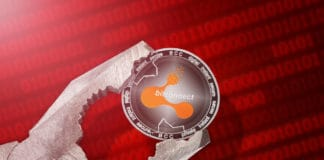 Bitconnect (BCC) coin is under pressure. Concept of the regulation or control of Bitconnect (BCC) cryptocurrency; limitation; prohibition. Source: shutterstock.com