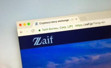 Amsterdam, the Netherlands - September 20, 2018 Website of Zaif, a cryptocurrency exchange. Source; shutterstock.com