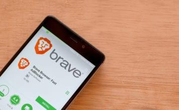 BEKASI, WEST JAVA, INDONESIA. FEBRUARY 24, 2018 Brave Browser Fast AdBlocker dev application on Smartphone screen. Brave Browser is a freeware web browser developed by Brave Software. Source: shutterstock.com