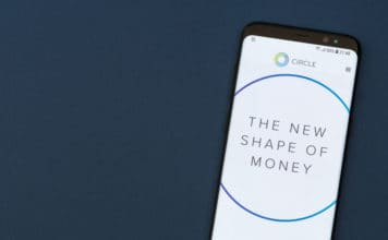 KYRENIA, CYPRUS - SEPTEMBER 17, 2018 Circle Pay website displayed on the smartphne screen. Circle is a mobile payments platform backed by Goldman Sachs. Source: shutterstock.com