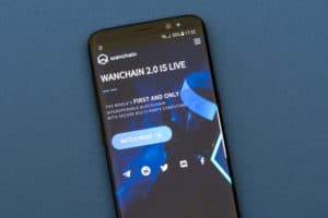 KYRENIA, CYPRUS - SEPTEMBER 21, 2018 Wanchain cryptocurrency website displayed on the smartphone. Source: shutterstock.com