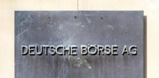 FRANKFURT, GERMANY - MARCH 29, 2014: sign deutsche Bourse AG - German stock exchange in front of stock exchange in Frankfurt, Germany. Frankfurt Stock exchange is the most important in Germany. Source: shutterstock.com