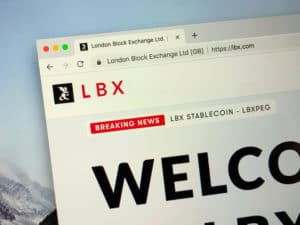 Amsterdam, the Netherlands - September 30, 2018 Website of London Block Exchange or LBX, UK's first cryptocurrency exchange. Source; shutterstock.com