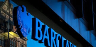 Barclays bank sign and logo, High Street, Lincoln, Lincolnshire, UK - 5th April 2018. Source: shutterstock.com