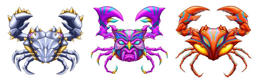 Crabs featured in CryptantCrab