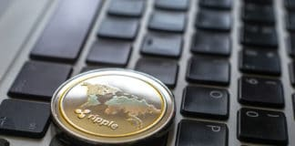 Crypto Ripple Coin currency Bitcoin computer technology. Source: shutterstock.com