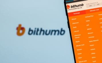 KYRENIA, CYPRUS - OCTOBER 5, 2018 Bithumb website on the smartphone screen. Bithumb is one of the largest cryptocurrency exchange by daily trading volume. Source: shutterstock.com
