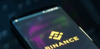 KYRENIA, CYPRUS - SEPTEMBER 21, 2018 Binance mobile app on running on smartphone. Binance is a leading cryptocurrency exchange founded by Changpeng Zhao in august 2017.