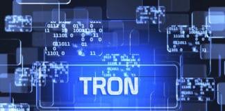 Tron blockchain concept