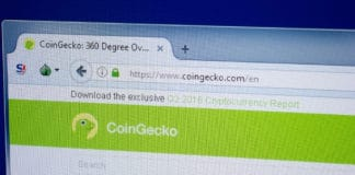 Ryazan, Russia - September 09, 2018: Homepage of Coin Gecko website on the display of PC, url - CoinGecko.com - Image