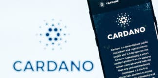KYRENIA, CYPRUS - OCTOBER 8, 2018 Cardano website displayed on the smartphone screen. ADA is a decentralized, open source, public blockchain protocol and cryptocurrency project. - Image