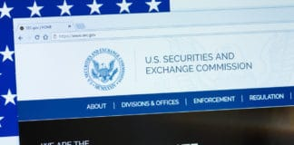 KYRENIA, CYPRUS - SEPTEMBER 10, 2018 Website of U.S. Securities and Exchange Commission displayed on the computer screen. SEC is an independent agency of the United States federal government.