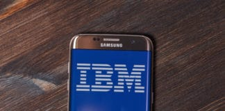 Kazan, Russian Federation - Aug 5, 2018 IBM website displayed on Samsung smartphone