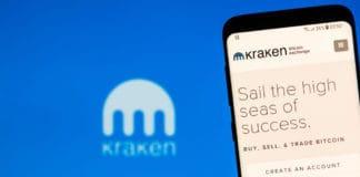 KYRENIA, CYPRUS - NOVEMBER 14, 2018 KRAKEN bitcoin exchange website displayed on the smartphone screen. - Image