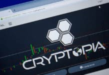 Ryazan, Russia - June 26, 2018 Homepage of Cryptopia website on the display of PC. URL - Cryptopia.co.nz. - Image